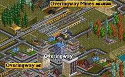 Overingway with two rail road stations