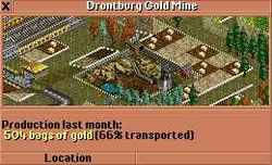 Gold Mine at Drontburg with high production