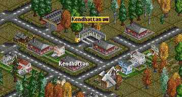 Kendhattan with bus station