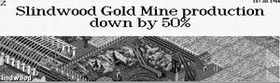 Slindwood Gold Mine production down by 50%