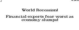 The World Recession of 1970