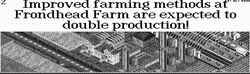 Improved farming gives a higher production